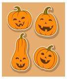 Cztery śmiesznego colour uśmiechnięta bania Obraz Stock