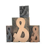 cztery ampersands Zdjęcia Royalty Free