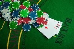 cztery as w partii pokeru Fotografia Royalty Free