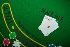 cztery as w partii pokeru Zdjęcia Stock