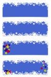 Cztery błękitnego boże narodzenie chodnikowa royalty ilustracja