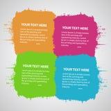 Cztery barwiącej związanej plamy ilustracji
