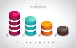 Cztery barwili kolumny z miejscem dla twój swój teksta ilustracja wektor