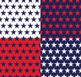 Cztery bezszwowy wzór z gwiazdami Obrazy Royalty Free