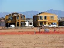 cztery budowy nowego domu obrazy royalty free