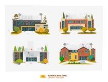 Cztery budynek szkoły ilustracji