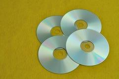 Cztery cd fotografia stock
