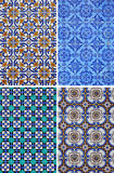Cztery ceramicznych płytek wzoru Obraz Royalty Free