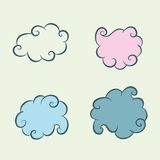 Cztery chmury Obrazy Stock