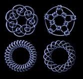 Cztery chrom Matematycznie kępki - zawiera ścinek ścieżkę Zdjęcia Royalty Free