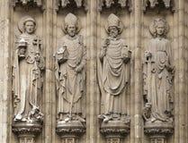 Cztery chrześcijańskiej statuy w Antwerpen, Belgia fotografia royalty free