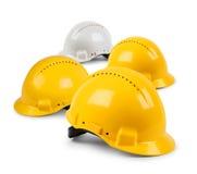 cztery ciężkiego kapeluszu drużyna Obrazy Royalty Free
