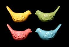 Cztery colourful ptasiego kształta ornamentu Zdjęcie Stock