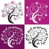 cztery drzewa royalty ilustracja
