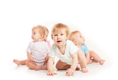 Cztery dziecka odizolowywającego Obrazy Royalty Free