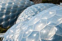 Cztery Eden projekta Biomes Zamkniętego up Zdjęcie Stock