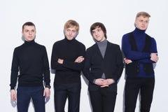 Cztery eleganckiego młodego człowieka Zdjęcia Royalty Free