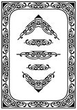 cztery elementy projektu tła snowfiake białego Zdjęcie Royalty Free