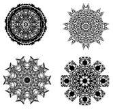 cztery elementy projektu tła snowfiake białego Obrazy Royalty Free