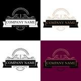 cztery elementy projektu tła snowfiake białego Logo firmy imię obrazy royalty free
