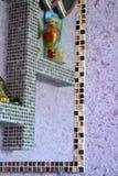 cztery elementy projektu tła snowfiake białego mozaika Zdjęcia Stock