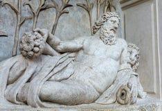 Cztery fontanny są grupą cztery Opóźnionej Renesansowej fontanny w Rzym Obraz Royalty Free
