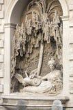 Cztery fontanny są grupą cztery Opóźnionej Renesansowej fontanny w Rzym, Obraz Royalty Free