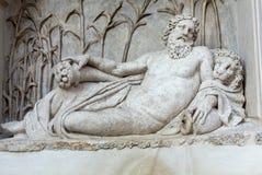 Cztery fontanny są grupą cztery Opóźnionej Renesansowej fontanny w Rzym, Zdjęcie Stock