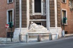 Cztery fontanny są grupą cztery Opóźnionej Renesansowej fontanny w Rzym Zdjęcia Stock