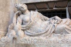 Cztery fontanny są grupą cztery Opóźnionej Renesansowej fontanny w Rzym Obrazy Royalty Free