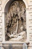 Cztery fontanny są grupą cztery Opóźnionej Renesansowej fontanny w Rzym Zdjęcie Royalty Free