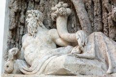 Cztery fontanny są grupą cztery Opóźnionej Renesansowej fontanny w Rzym, Obrazy Royalty Free
