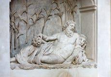 Cztery fontanny są grupą cztery Opóźnionej Renesansowej fontanny w Rzym, Obraz Stock