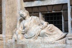 Cztery fontanny są grupą cztery Opóźnionej Renesansowej fontanny w Rzym, Fotografia Royalty Free