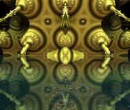 Cztery fractal robi abstrakcjonistycznemu geometrycznemu composition-3d renderingowi Fotografia Royalty Free