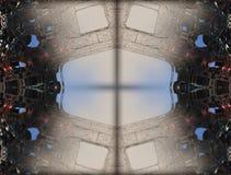 Cztery fractal robi abstrakcjonistycznemu geometrycznemu composition-3d renderingowi Obrazy Royalty Free