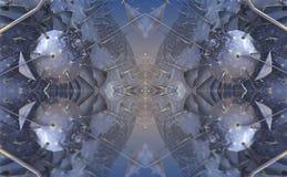 Cztery fractal robi abstrakcjonistycznemu geometrycznemu composition-3d renderingowi Obraz Stock