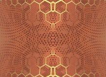 Cztery fractal robi abstrakcjonistycznemu geometrycznemu composition-3d renderingowi Obraz Royalty Free
