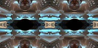 Cztery fractal robi abstrakcjonistycznemu geometrycznemu composition-3d renderingowi Zdjęcia Stock