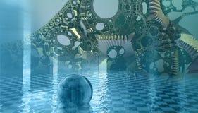 Cztery fractal robi abstrakcjonistycznemu geometrycznemu composition-3d renderingowi Fotografia Stock
