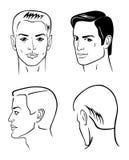 cztery głów mężczyzna royalty ilustracja