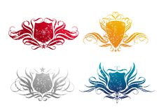 cztery grunge osłon roczne royalty ilustracja