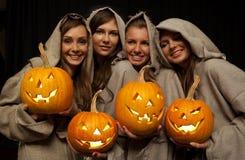 cztery Halloween mienia magdalenek bani Zdjęcie Stock