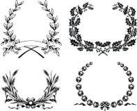 Cztery Jeden koloru Oryginalny Heraldyczny wianek Zdjęcie Royalty Free