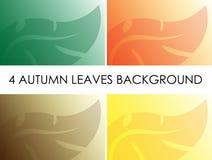 Cztery jesień liści tło Ilustracja Wektor