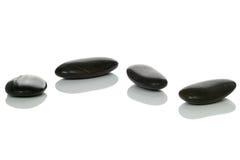 cztery kamienie czerni zdjęcie stock