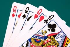 cztery karty 03 królowej. Zdjęcie Royalty Free