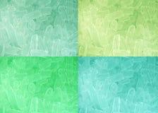 Cztery kolorów brzmienia lodu tło Zdjęcie Royalty Free