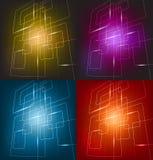 Cztery kolorowy tło Obraz Stock