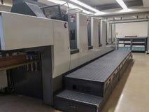 Cztery koloru drukowa maszyna fotografia stock